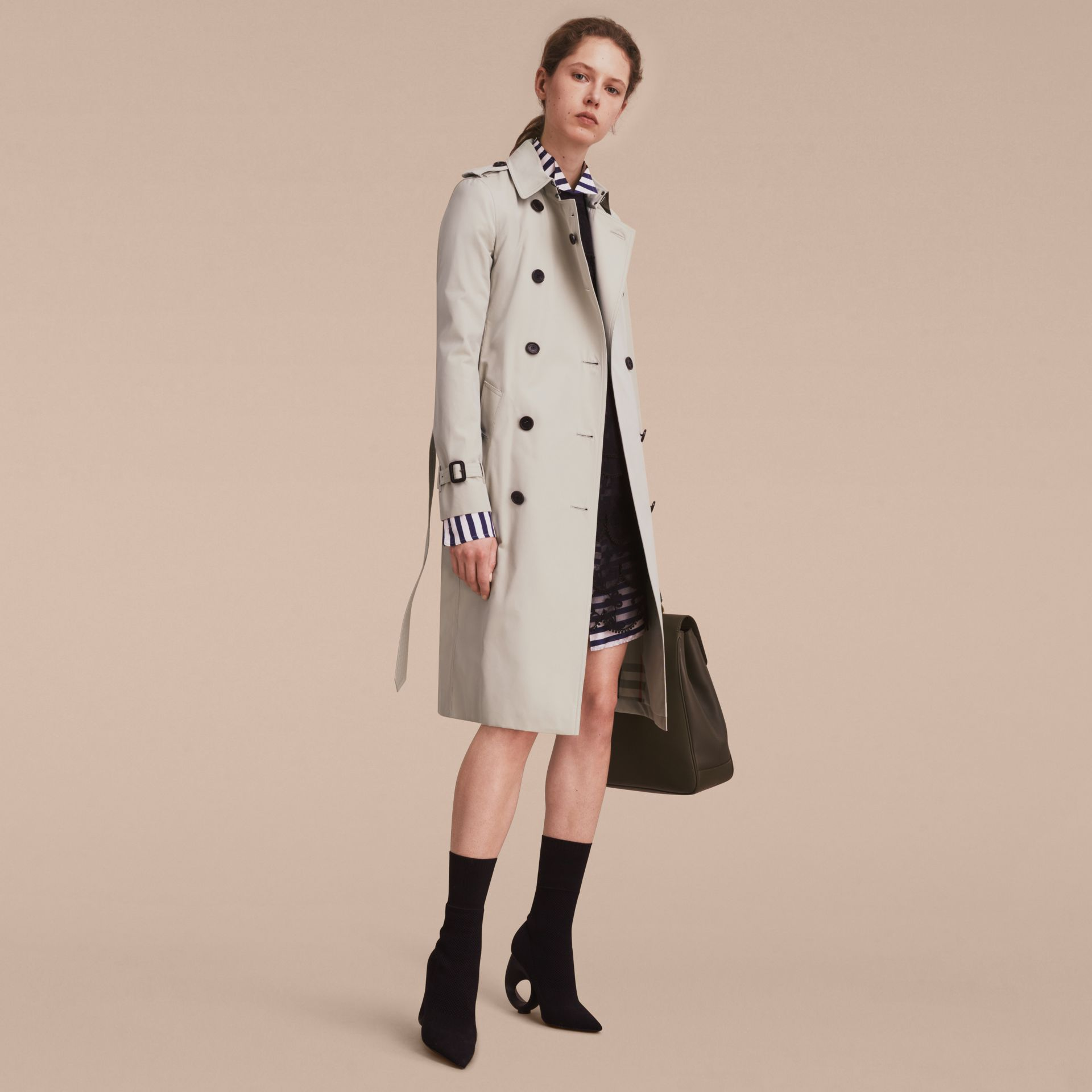 Stone The Kensington – Extra-long Heritage Trench Coat Stone - gallery image 1