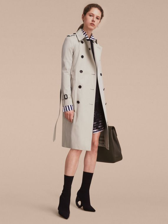 The Kensington - Trench coat Heritage extra longo Areia