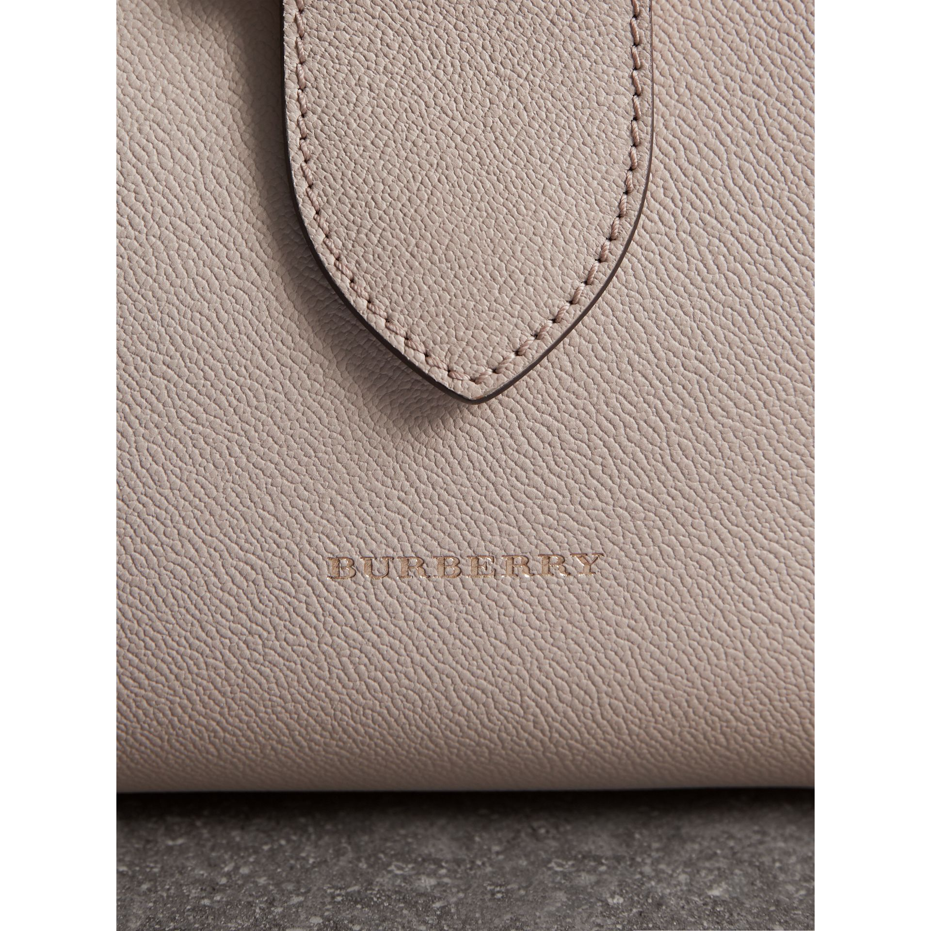 The Medium Buckle Tote in Grainy Leather in Limestone - Women | Burberry United States - gallery image 1