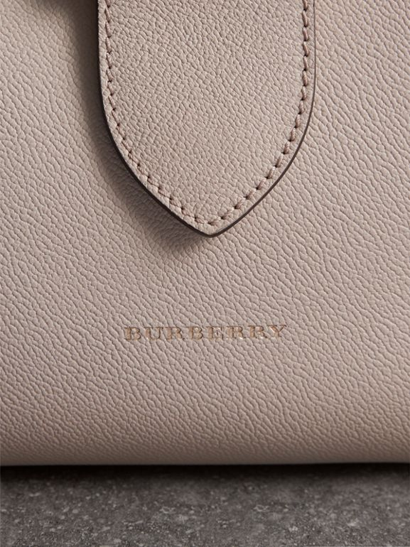The Medium Buckle Tote in Grainy Leather in Limestone - Women | Burberry - cell image 1