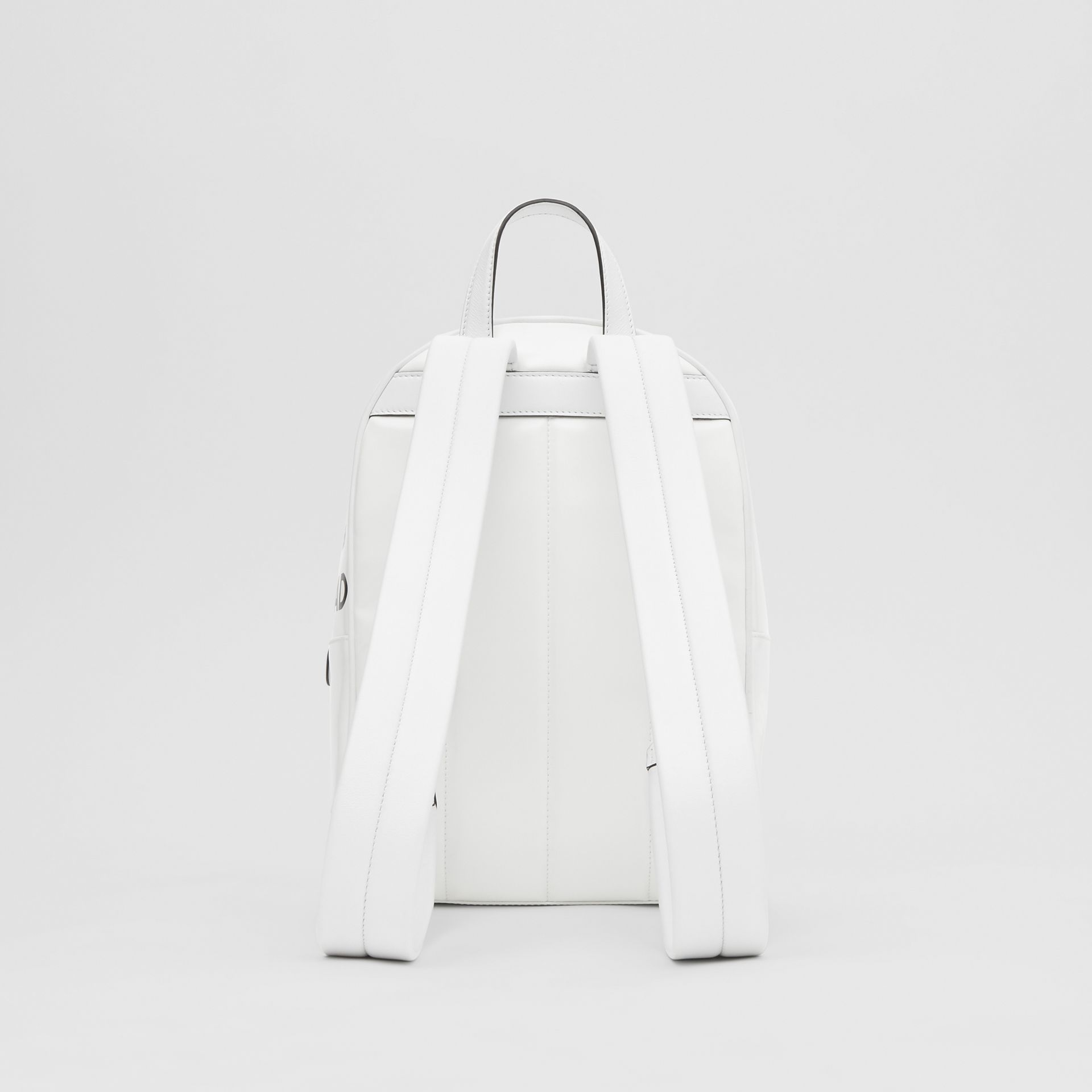 Horseferry Print Coated Canvas Backpack in White | Burberry - gallery image 9