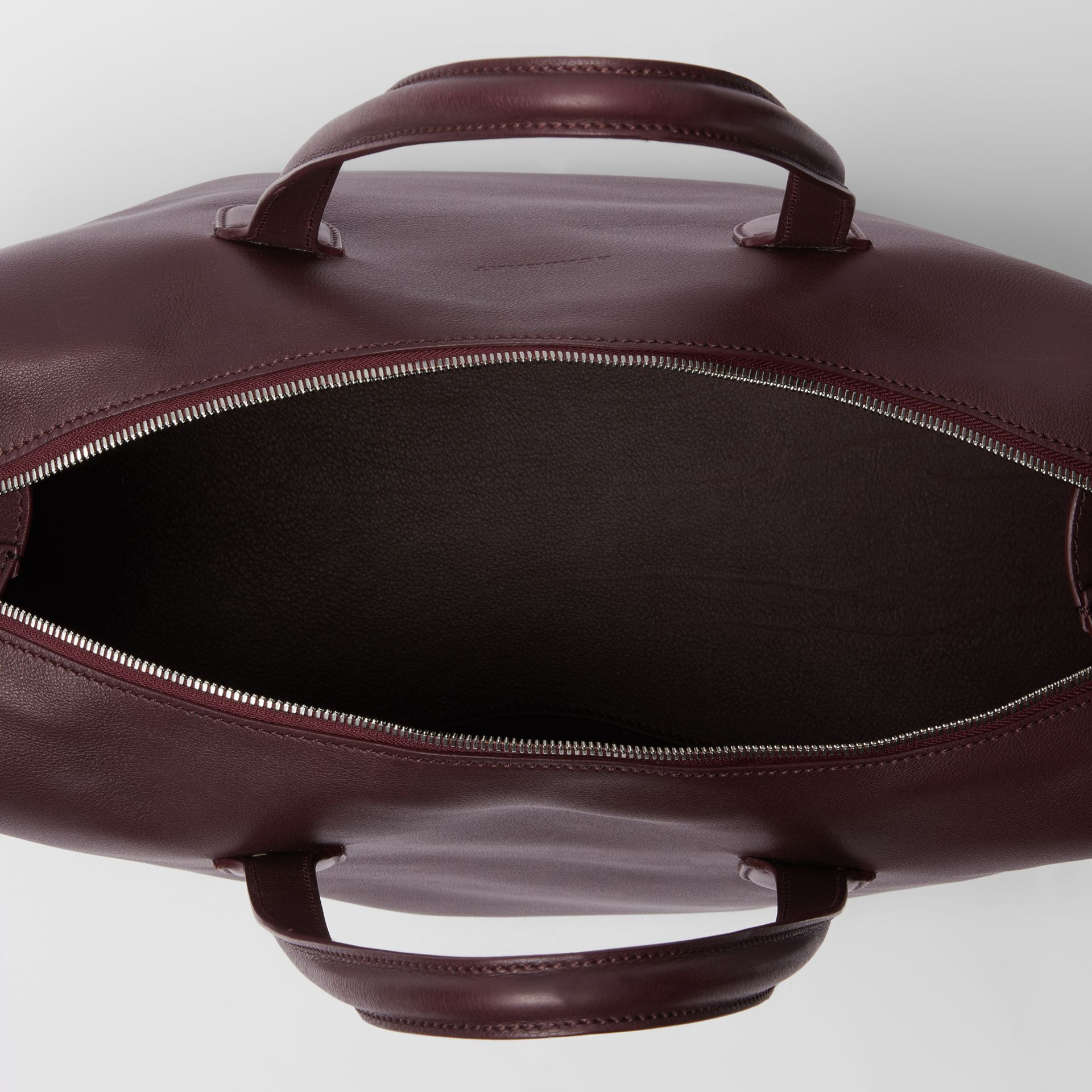 Soft Leather Holdall in Oxblood - Men | Burberry United States - gallery image 3