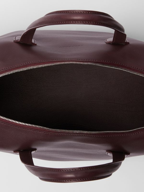 Soft Leather Holdall in Oxblood - Men | Burberry - cell image 3