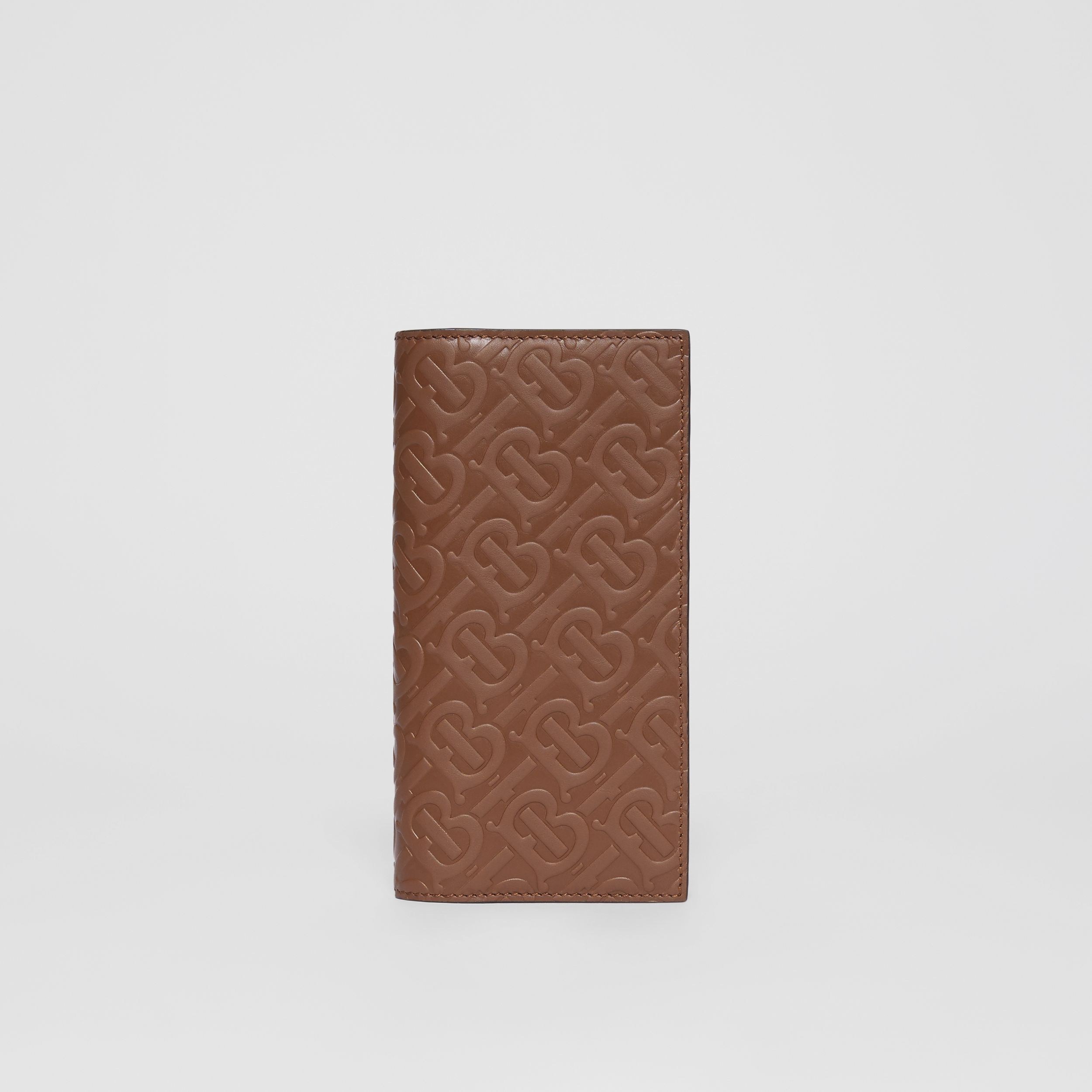 Monogram Leather Continental Wallet in Dark Tan | Burberry - 1