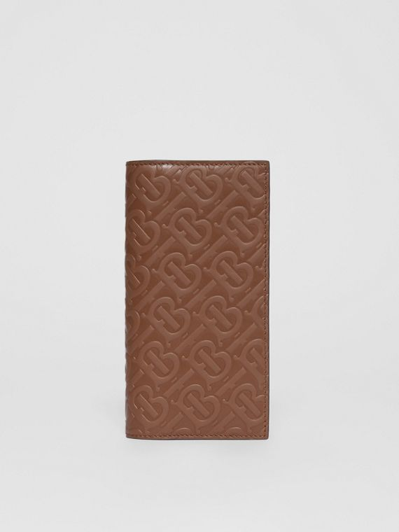 Monogram Leather Continental Wallet in Dark Tan