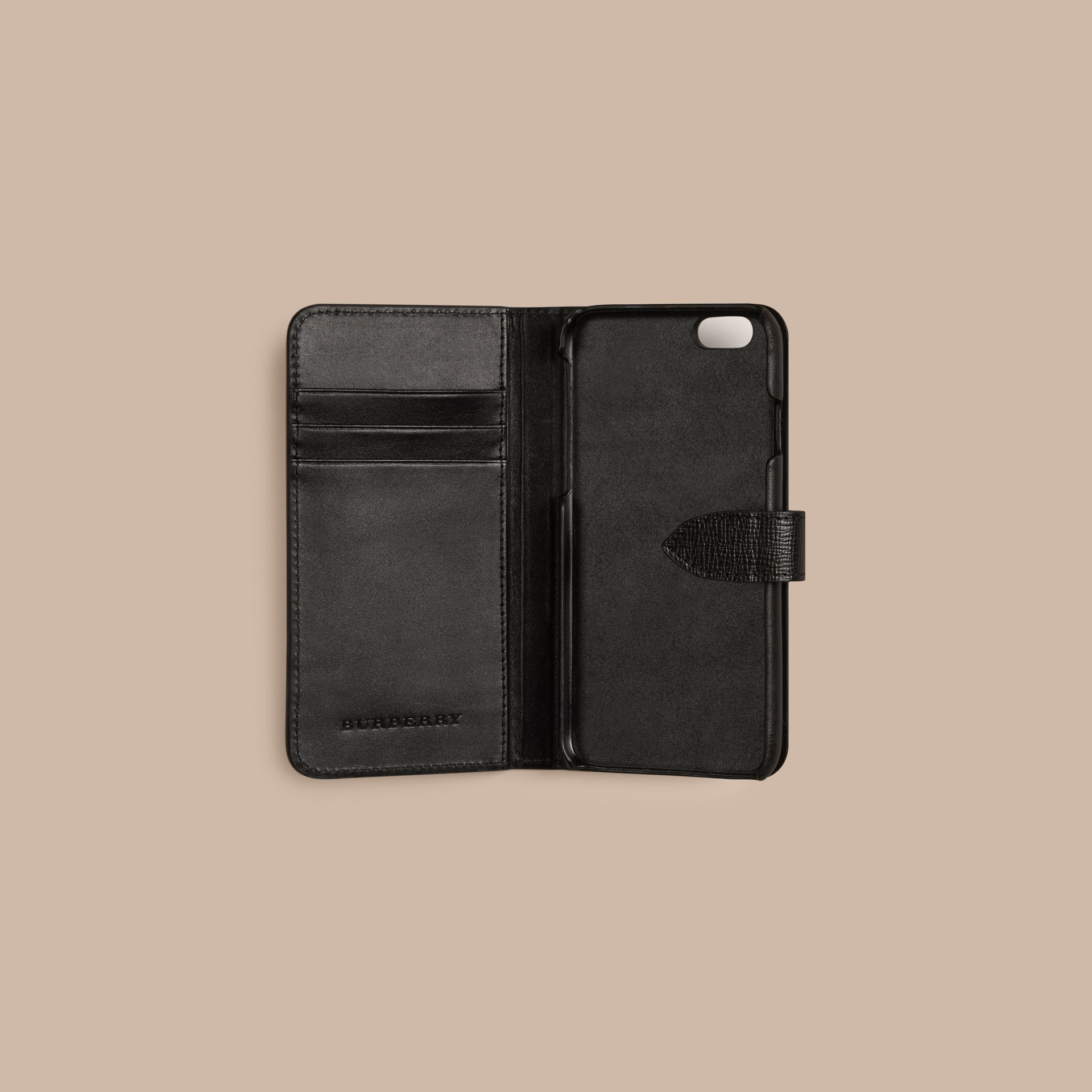 Black London Leather iPhone 6 Flip Case Black - gallery image 2