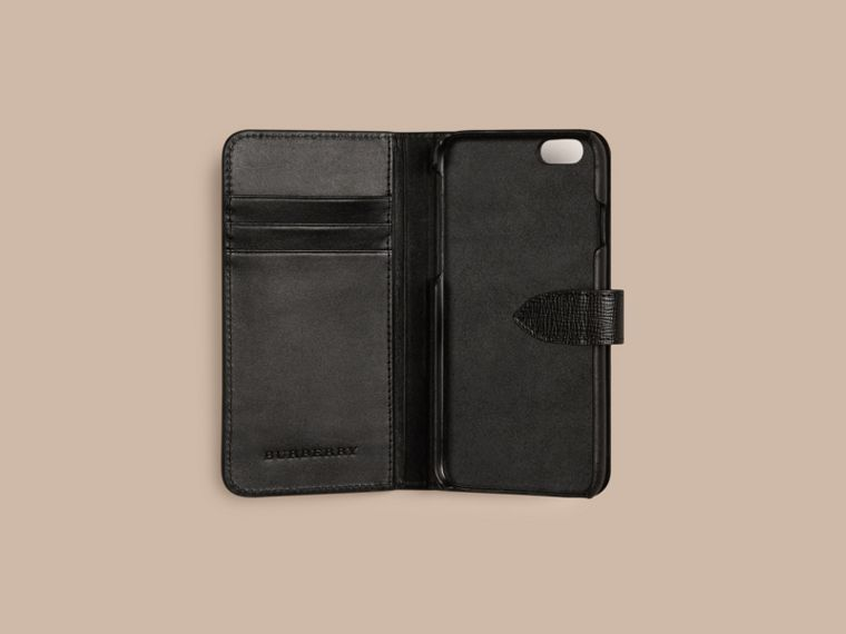 Nero Custodia a libro in pelle London per iPhone 6 Nero - cell image 1