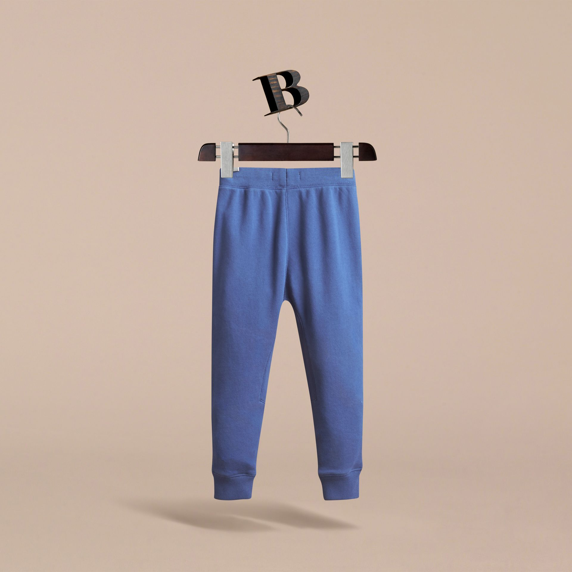 Drawcord Cotton Sweatpants in Marine Blue - Boy | Burberry - gallery image 4