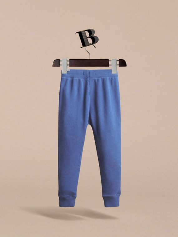Drawcord Cotton Sweatpants in Marine Blue - Boy | Burberry - cell image 3