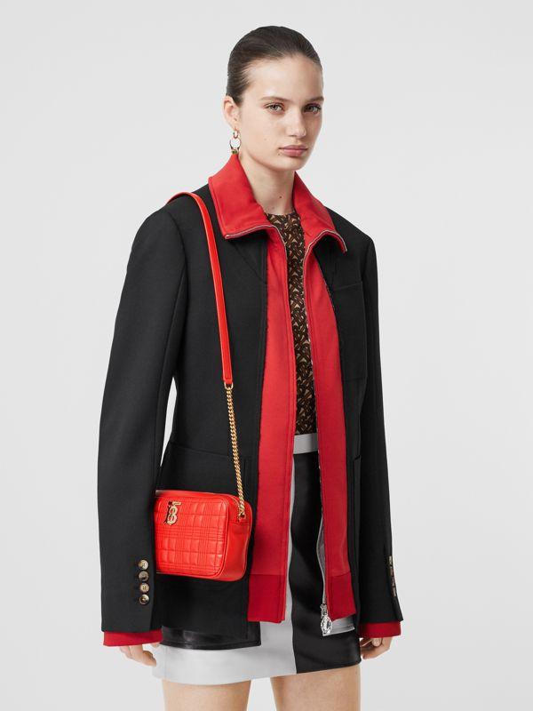 Quilted Lambskin Camera Bag in Bright Red - Women | Burberry - cell image 2