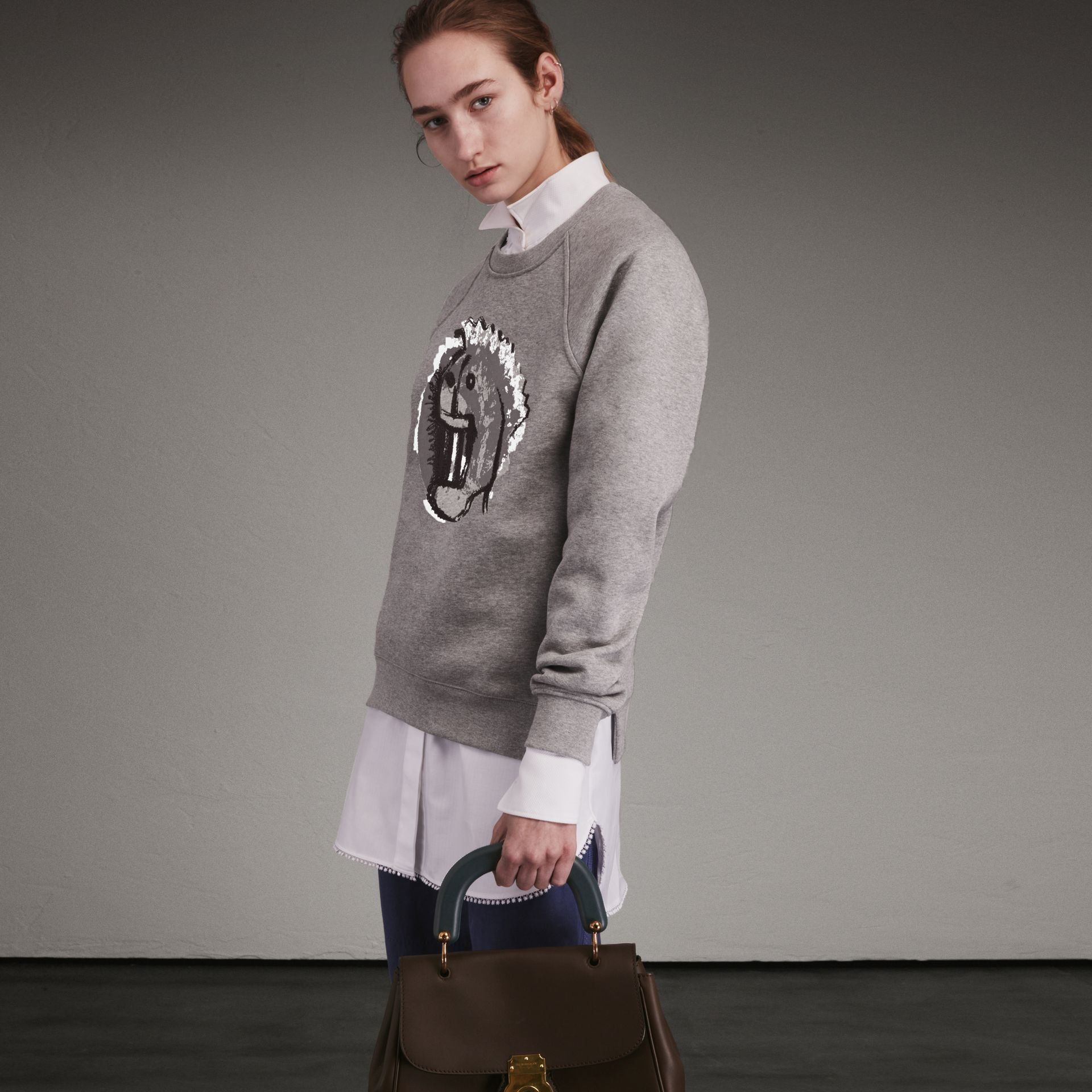 Unisex Pallas Heads Motif Sweatshirt - Women | Burberry - gallery image 1