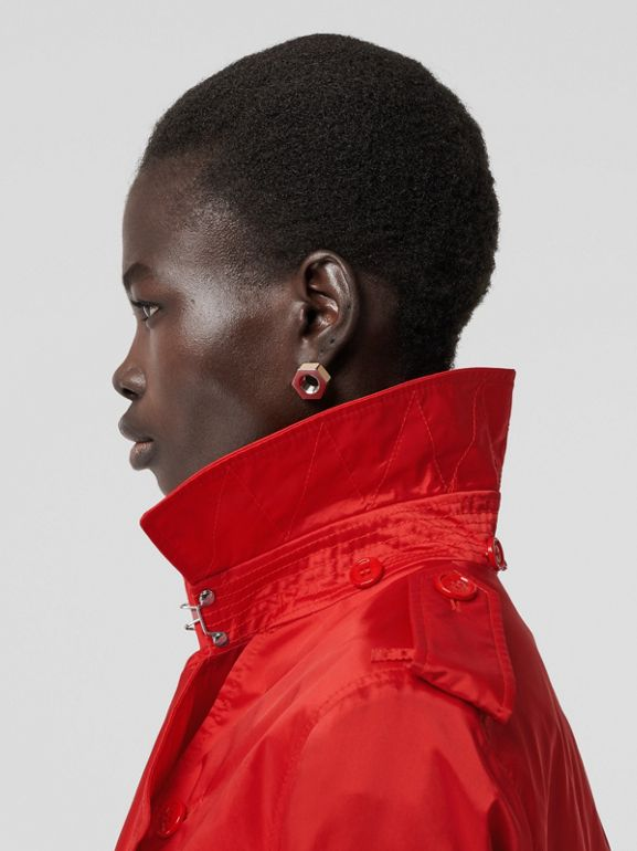 Detachable Hood ECONYL® Trench Coat in Bright Red - Women | Burberry United Kingdom - cell image 1