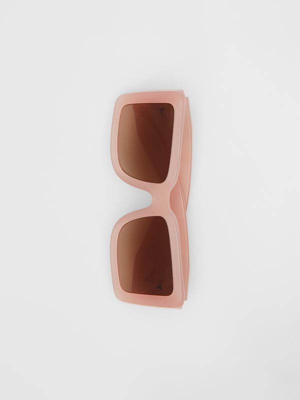 B Motif Square Frame Sunglasses in Pink - Women | Burberry Australia - cell image 2