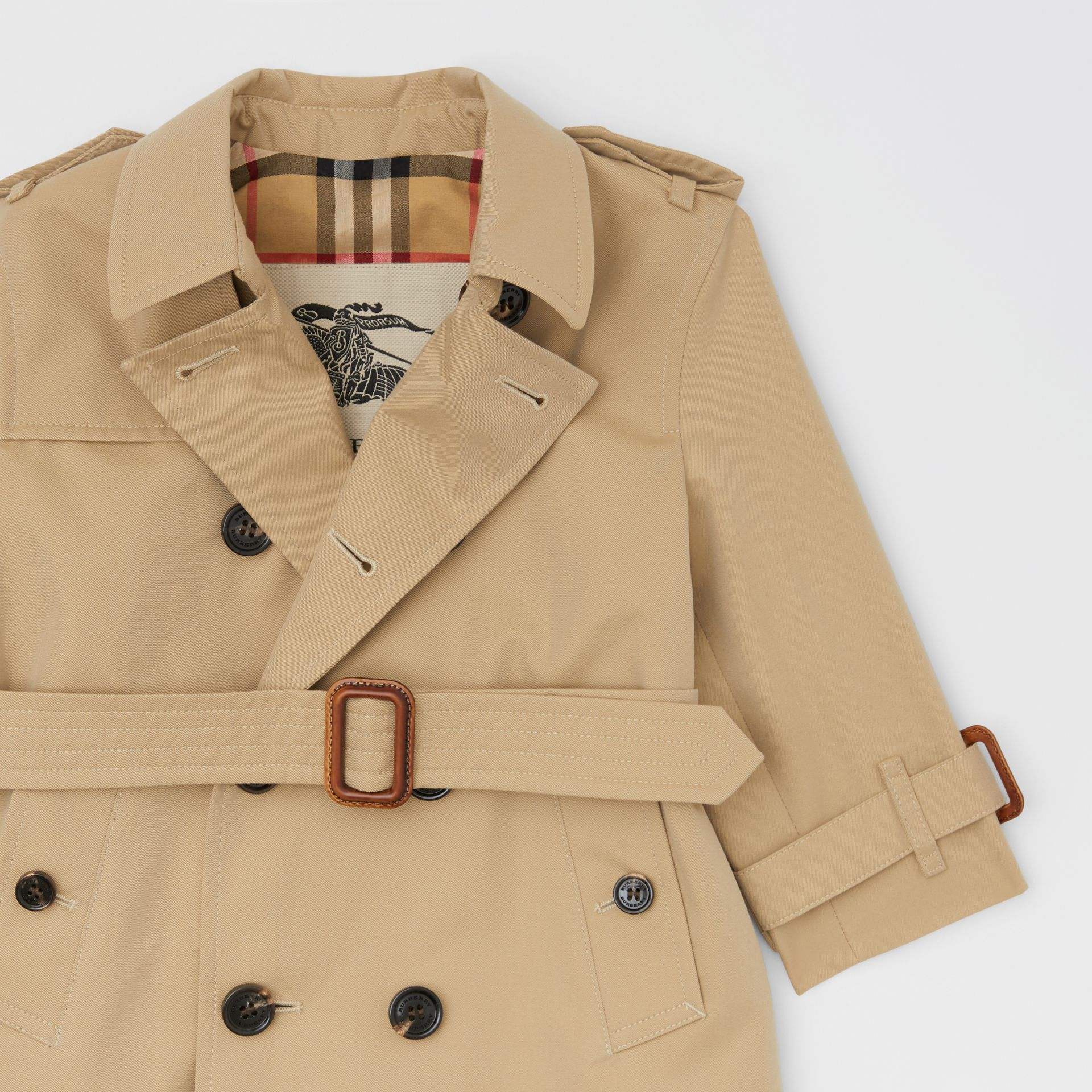 Cotton Gabardine Trench Coat in Honey - Children | Burberry Hong Kong S.A.R - gallery image 5