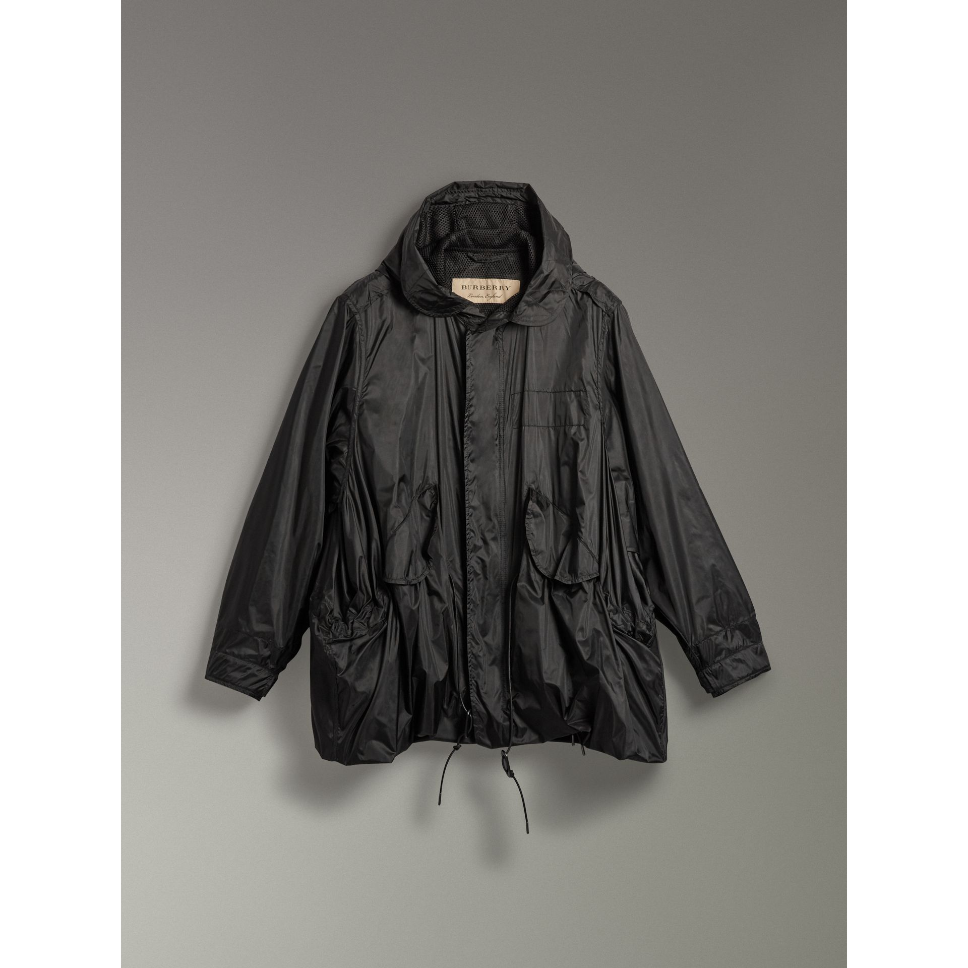 Showerproof Technical Parka in Black - Men | Burberry - gallery image 3
