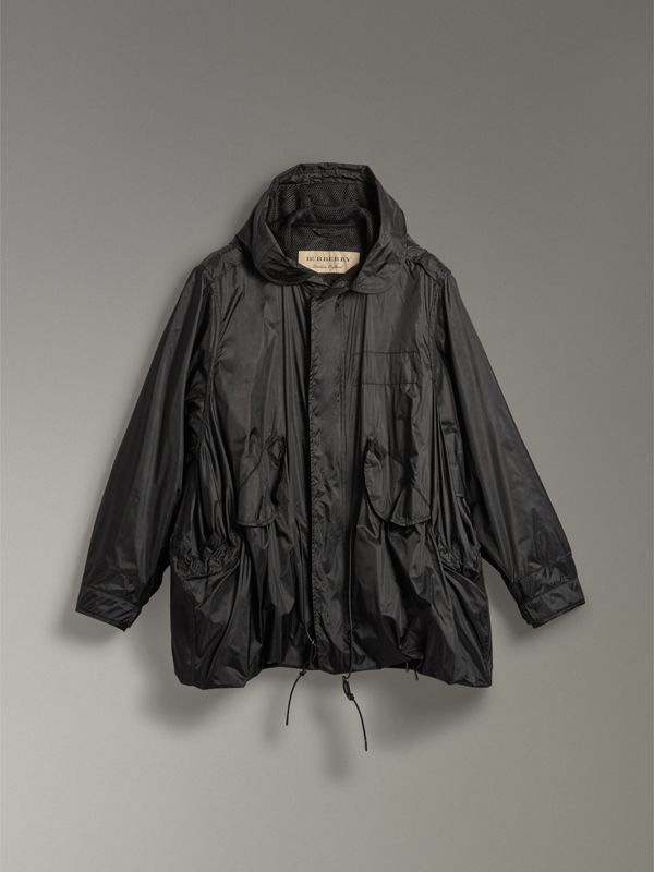 Showerproof Technical Parka in Black - Men | Burberry Canada - cell image 3