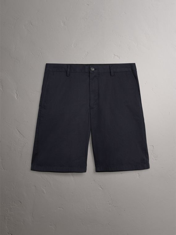 Cotton Twill Chino Shorts in Ink - Men | Burberry - cell image 3