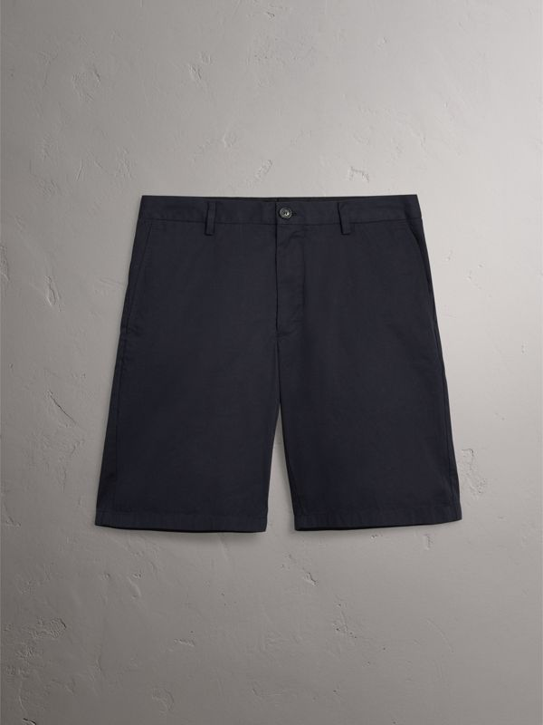 Cotton Twill Chino Shorts in Ink | Burberry - cell image 3