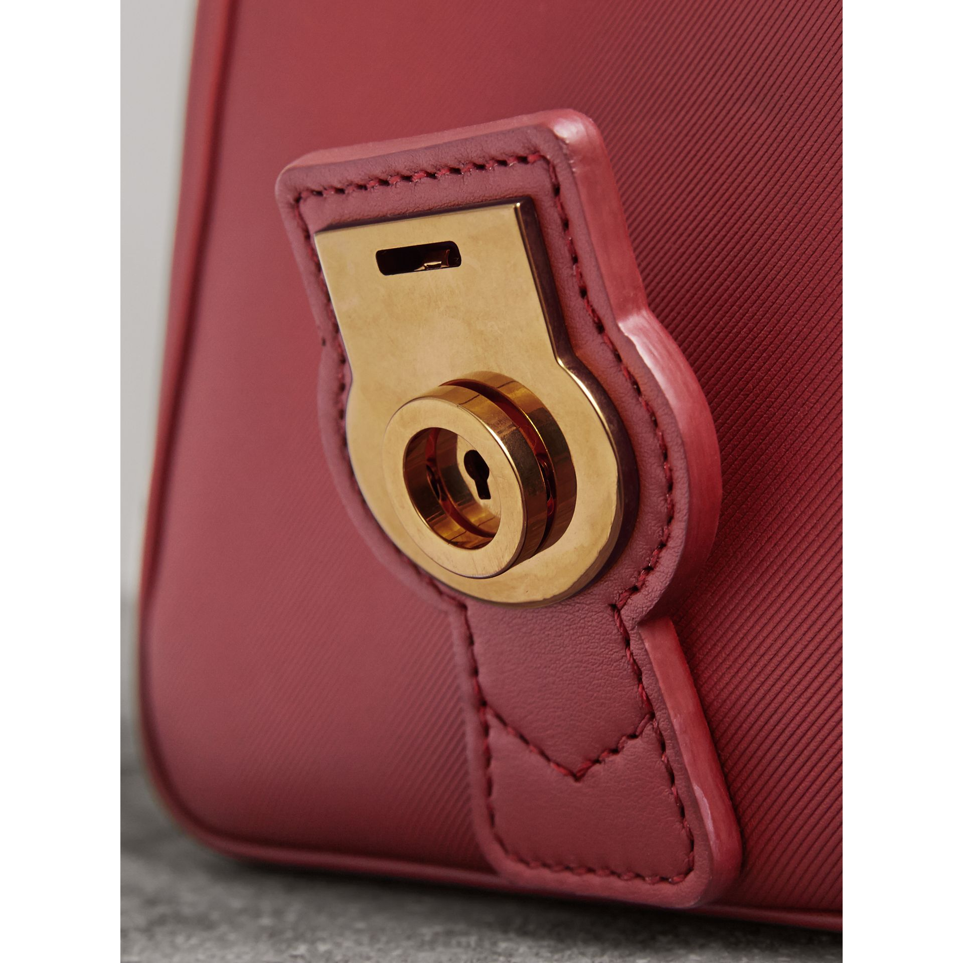 The Small DK88 Top Handle Bag in Antique Red - Women | Burberry - gallery image 2