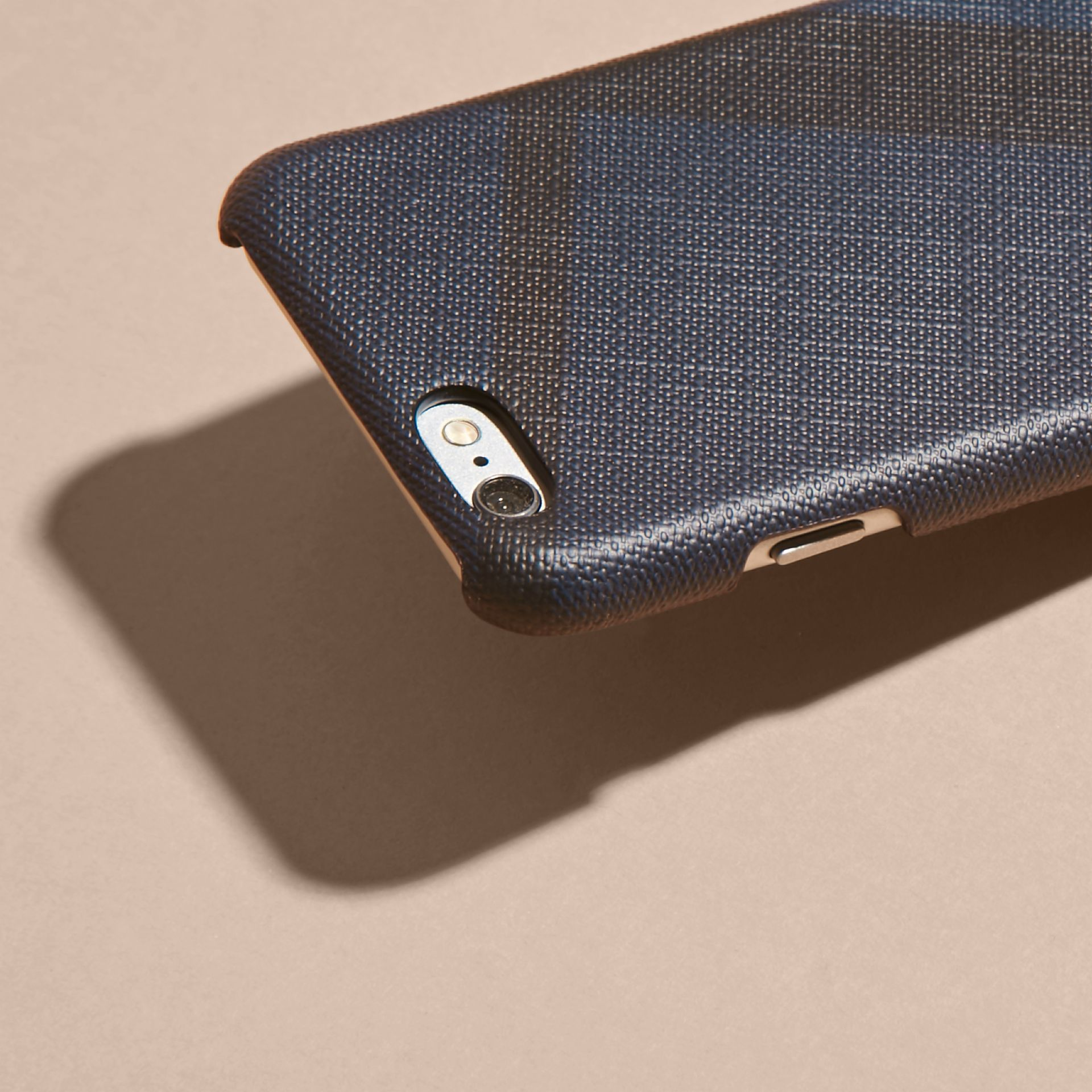 London Check iPhone 7 Case in Navy/black | Burberry United Kingdom - gallery image 3