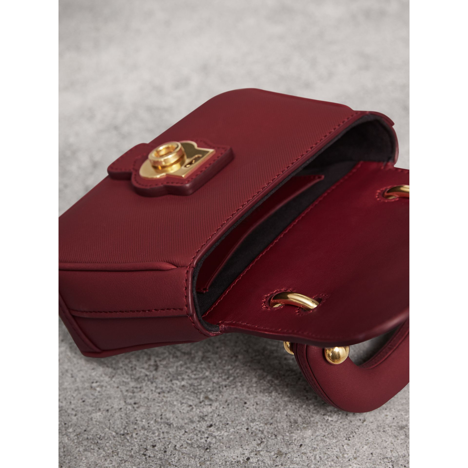 The Mini DK88 Top Handle Bag in Antique Red - Women | Burberry - gallery image 4