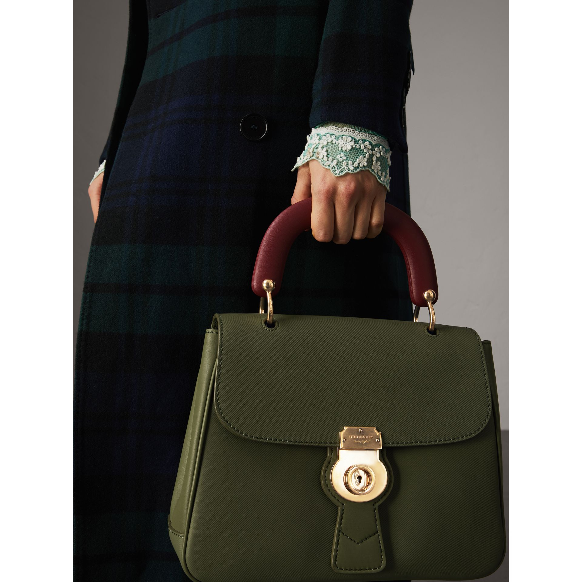 The Medium DK88 Top Handle Bag in Moss Green - Women | Burberry - gallery image 3