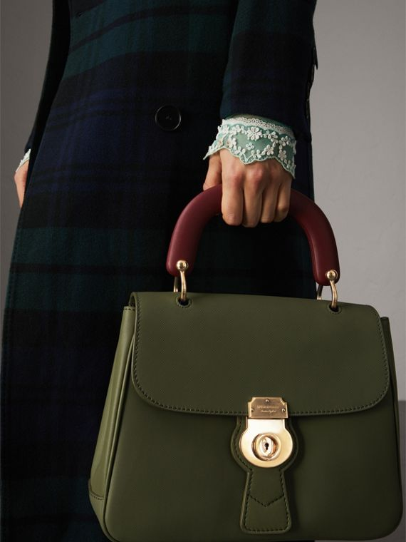 The Medium DK88 Top Handle Bag in Moss Green - Women | Burberry Canada - cell image 3