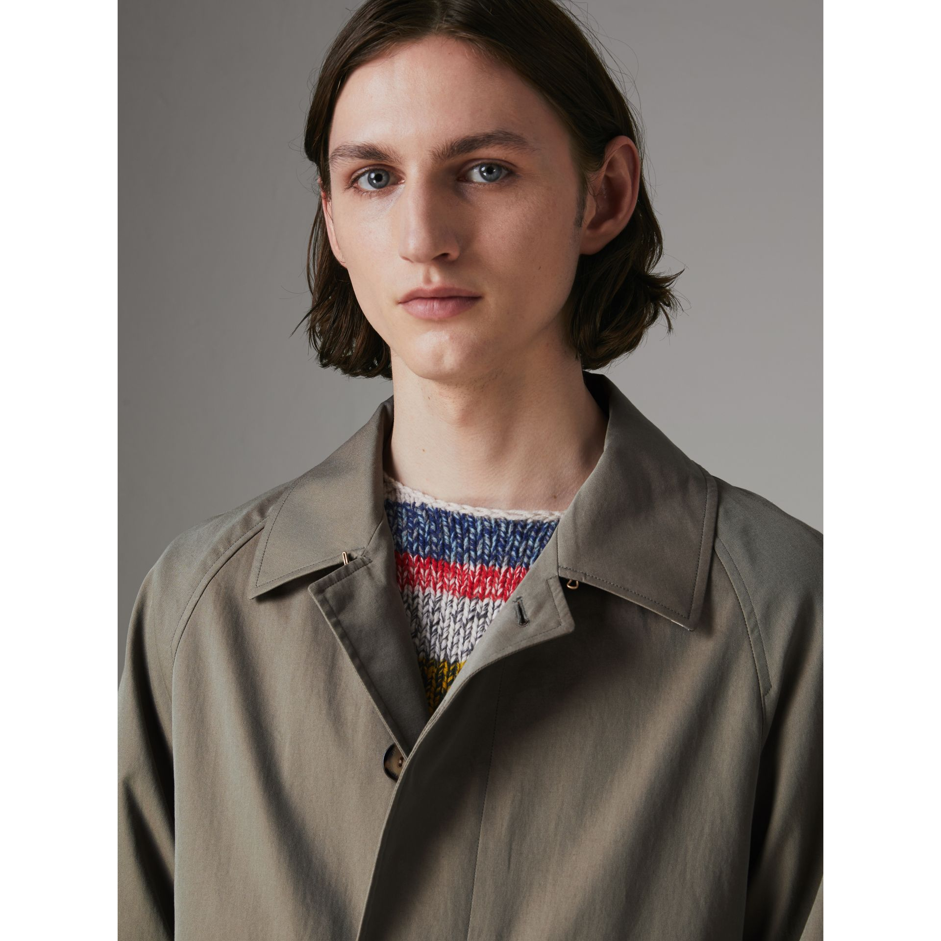 The Camden Car Coat in Chalk Green - Men | Burberry Canada - gallery image 1