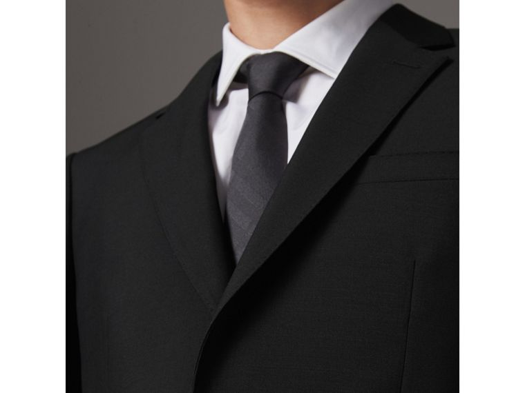 Modern Fit Wool Mohair Part-canvas Jacket in Black - Men | Burberry - cell image 4