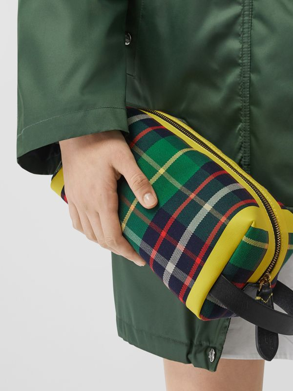Tartan Cotton Pouch in Forest Green | Burberry United States - cell image 2