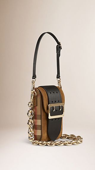 Sac The Belt oblong en cuir velours