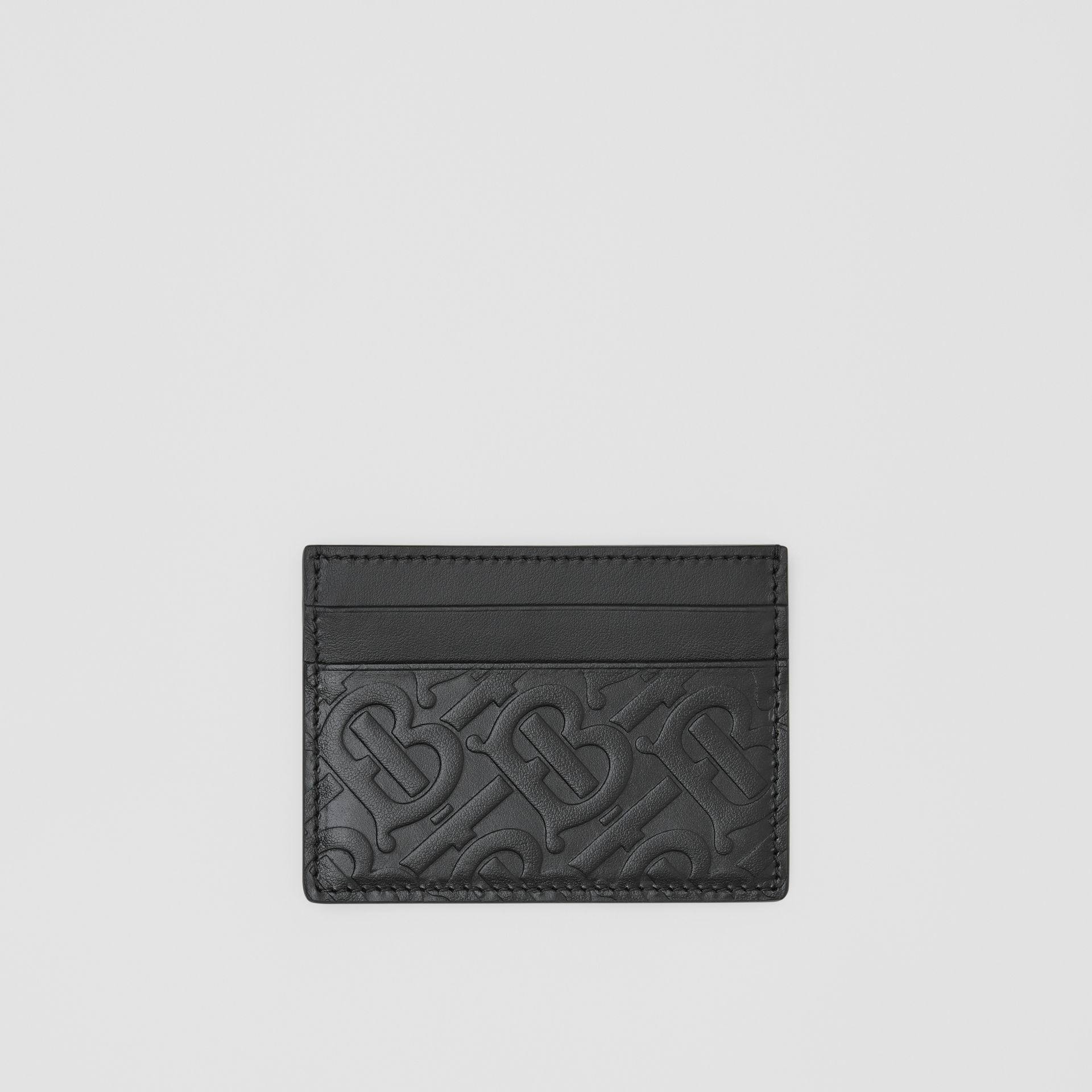 Porte-cartes en cuir Monogram (Noir) | Burberry - photo de la galerie 0