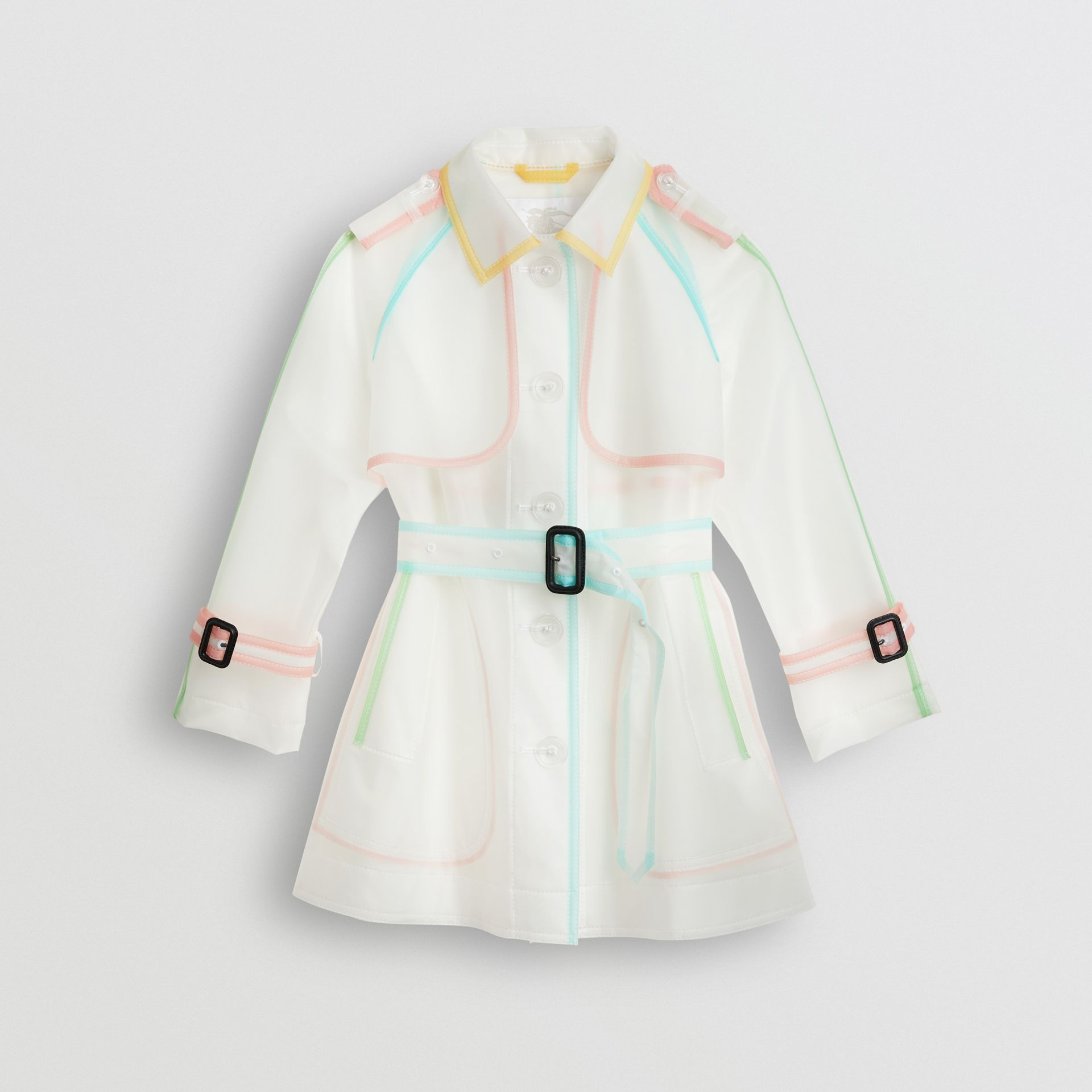 Showerproof Single-breasted Trench Coat in Clear - Children | Burberry - gallery image 0