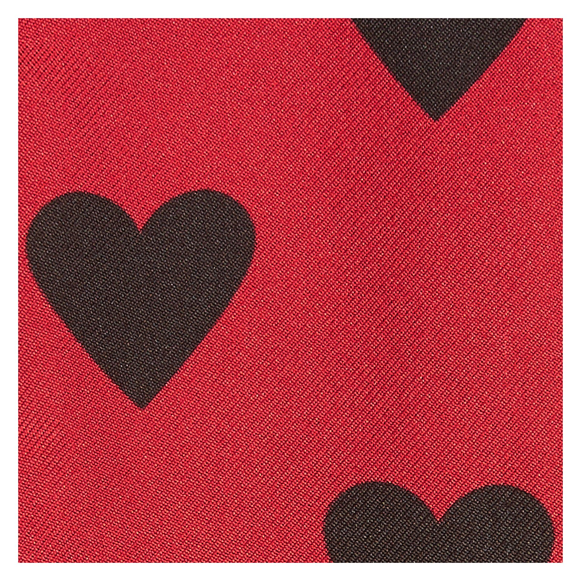 Red/black Heart Print Slim Silk Scarf Red/black - gallery image 2