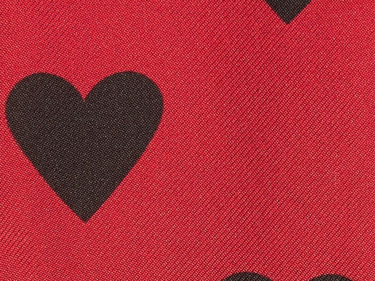 Red/black Heart Print Slim Silk Scarf Red/black - cell image 1
