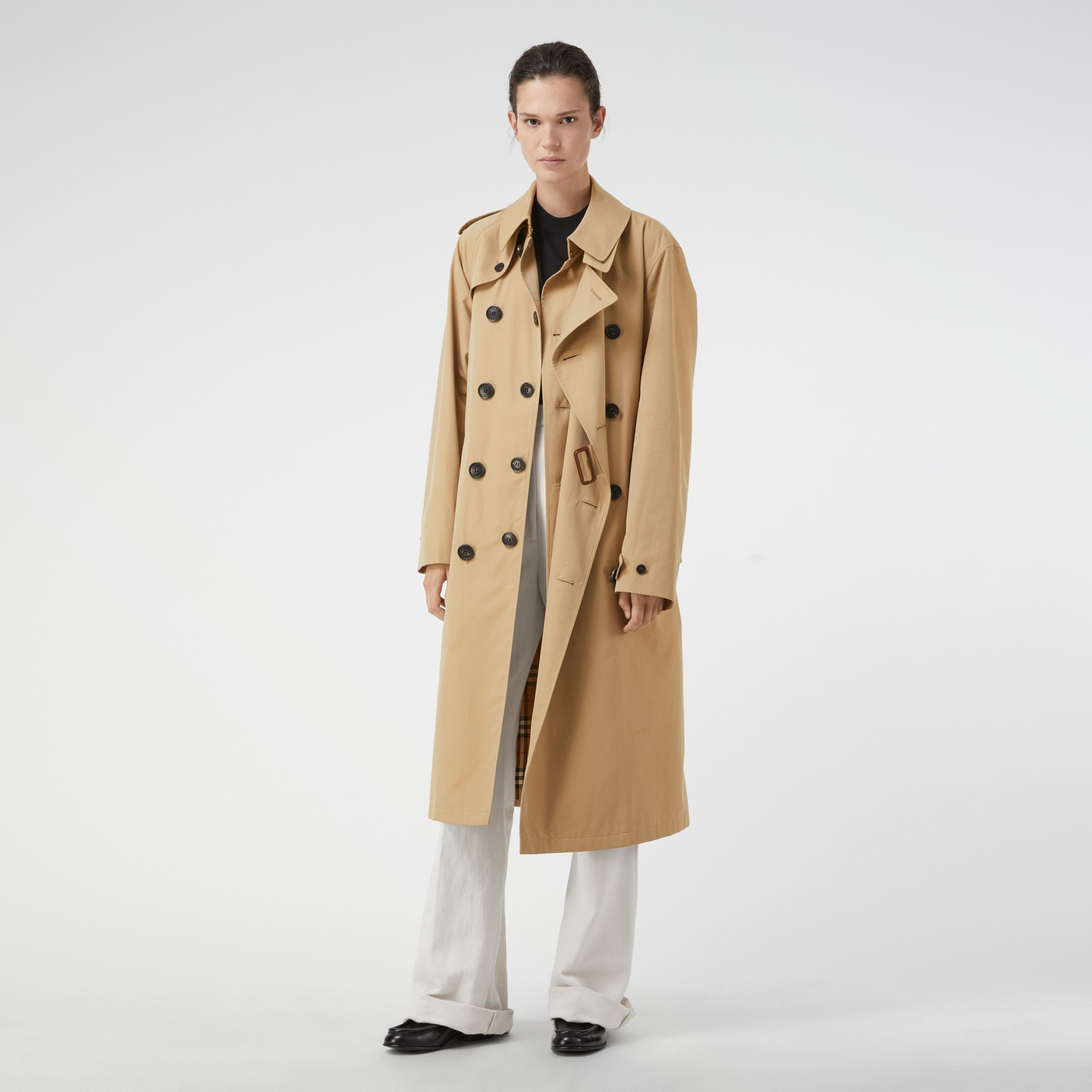 Gosha x Burberry Reconstructed Trench Coat in Honey | Burberry - gallery image 8