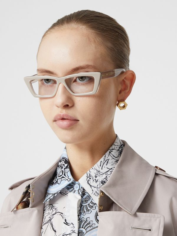 Rectangular Optical Frames in Nude - Women | Burberry - cell image 2