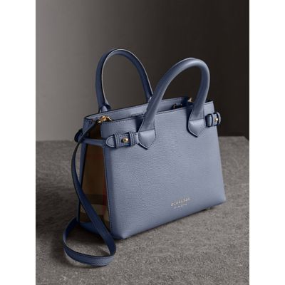 Burberry - Petit sac The Banner en cuir et coton House check - 7