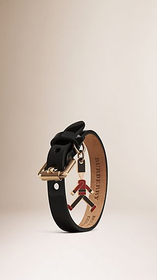 The Guardsman Charm Patent Leather Bracelet