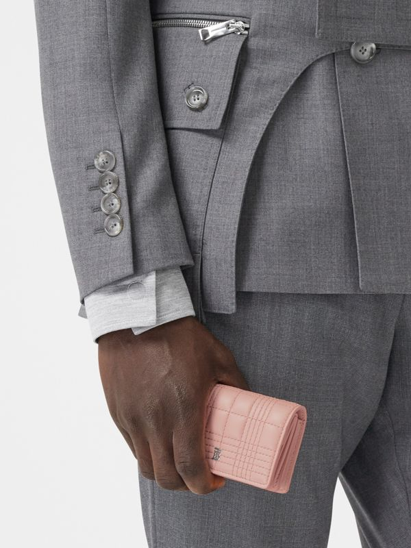 Quilted Lambskin Card Case with Detachable Strap in Blush Pink | Burberry - cell image 2