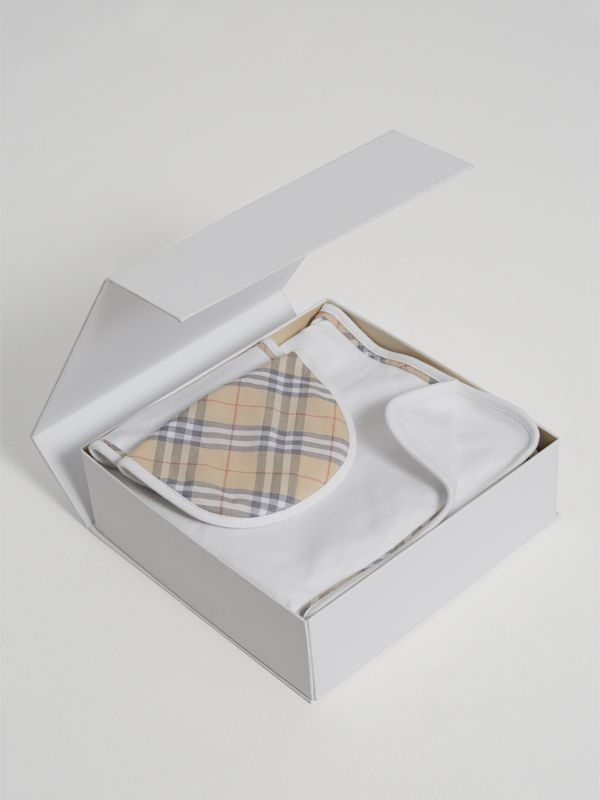 Cotton Three-piece Baby Gift Set in White | Burberry United Kingdom - cell image 2