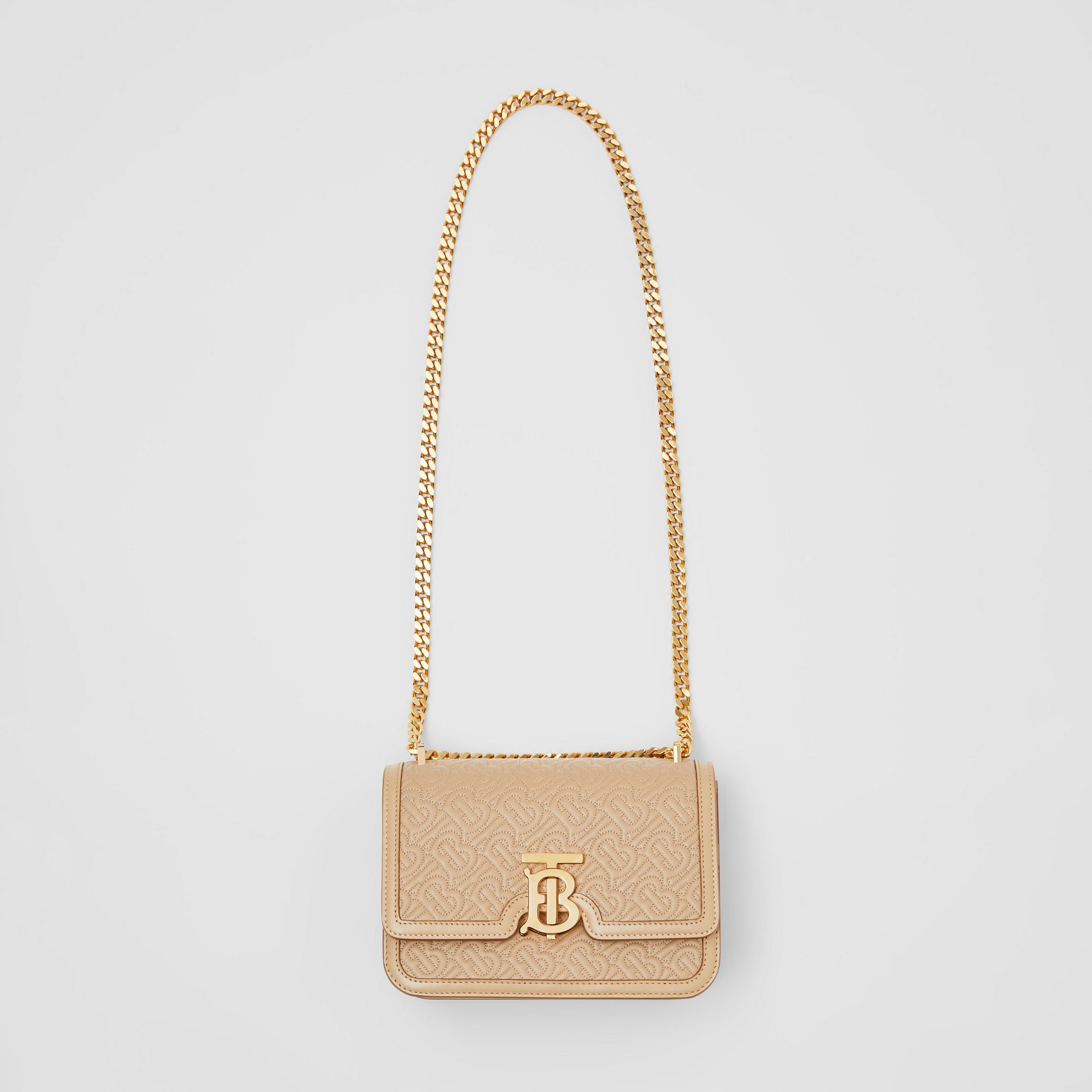 Small Quilted Monogram Lambskin TB Bag in Honey - Women | Burberry - gallery image 3