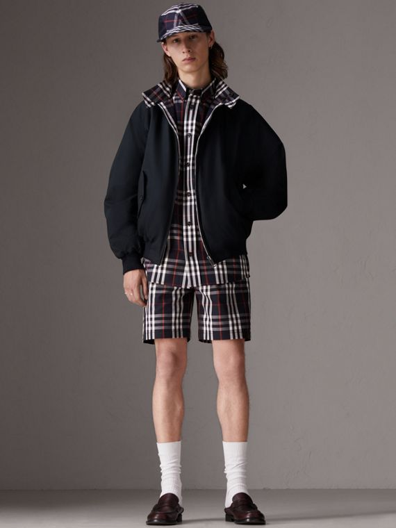 Gosha x Burberry Tailored Shorts in Navy | Burberry - cell image 2