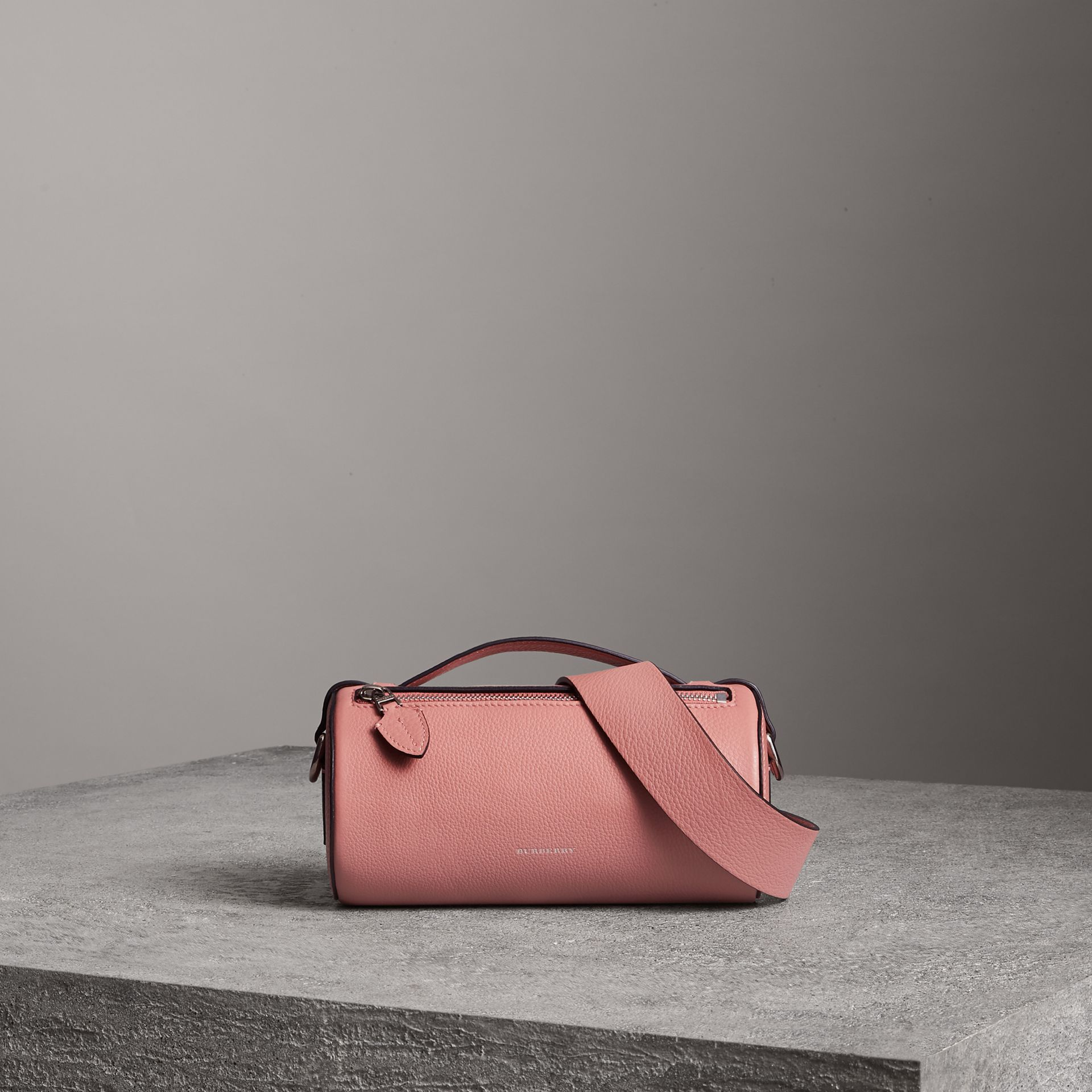 The Leather Barrel Bag in Dusty Rose - Women | Burberry - gallery image 0