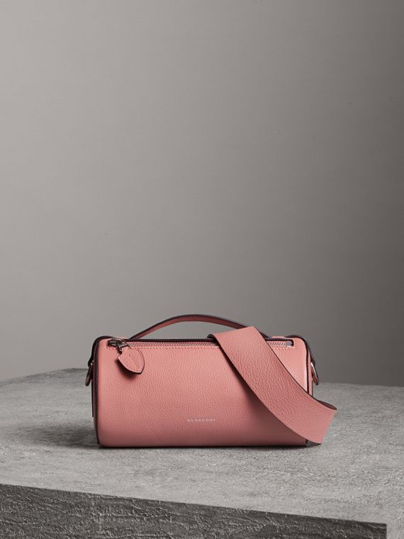 Borsa The Barrel in pelle (Rosa Polvere)