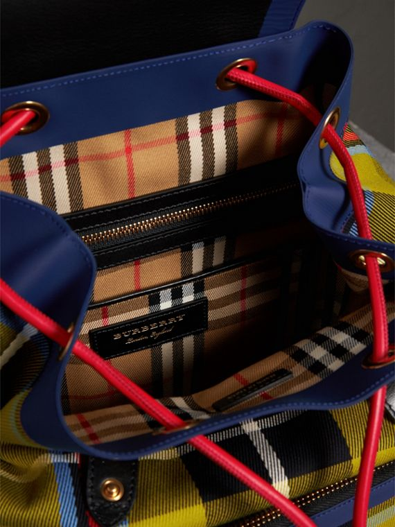 The Medium Rucksack in Tartan and Vintage Check in Flax Yellow - Women | Burberry Australia - cell image 3