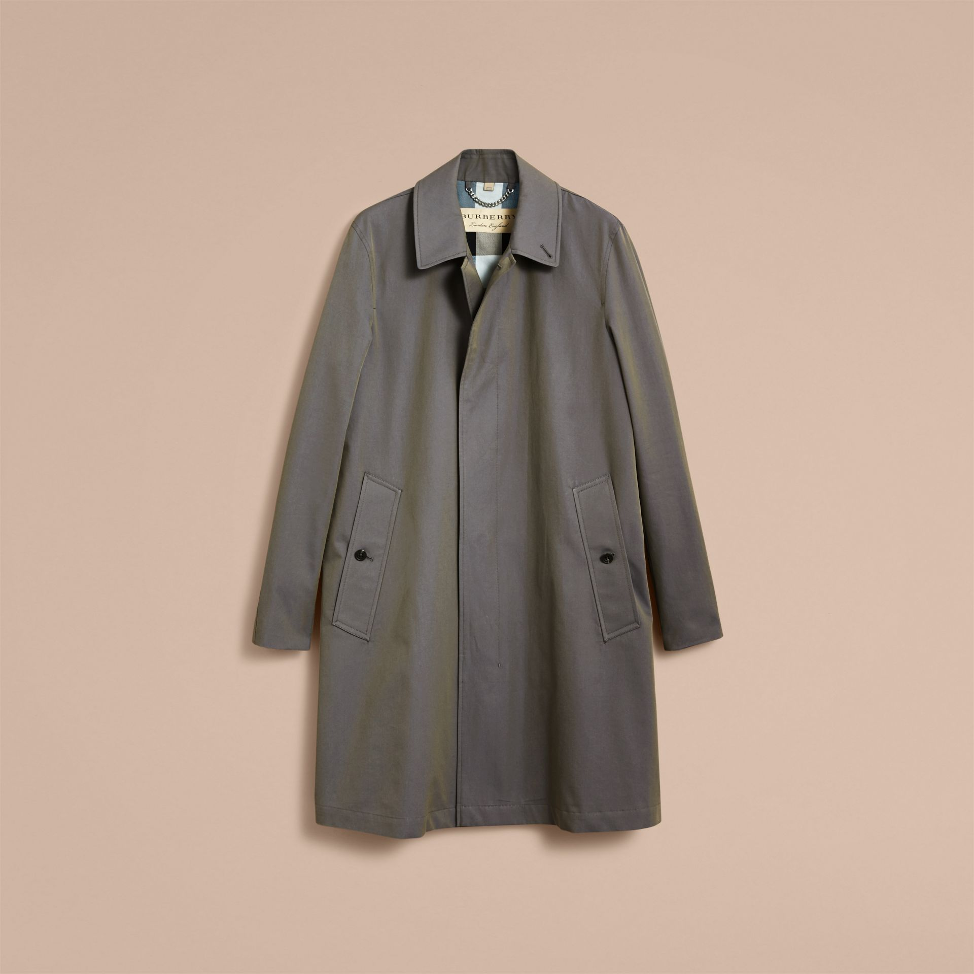 Tropical Gabardine Car Coat Storm Blue - gallery image 4