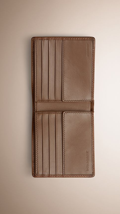 Tan Horseferry Check Folding Wallet - Image 3