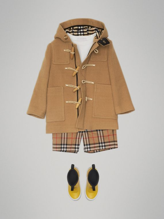 Duffle-coat en laine double face (Jaune Antique)