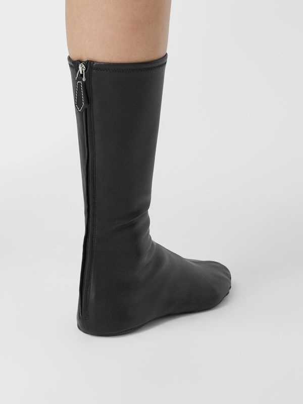 Faux Leather Mid-calf Socks in Black - Women | Burberry - cell image 3